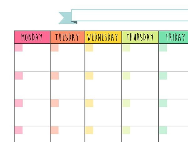 blank calendar no dates and months  Monthly templates in high PDF files to be printed on ..