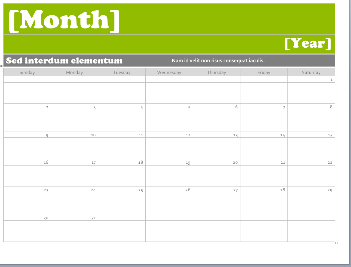 calendar for word template  Ms Word Calendar Templates | Business card template word ..