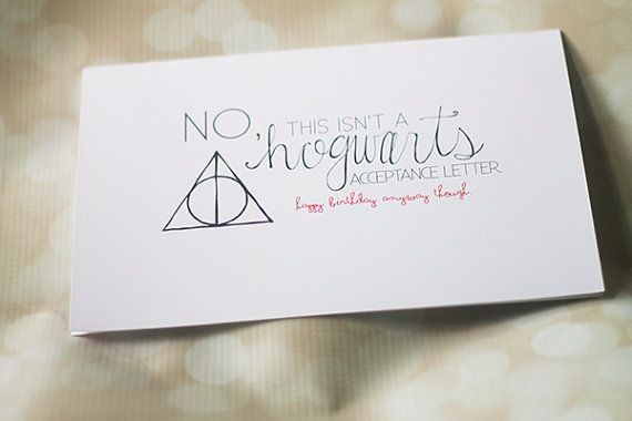 hogwarts acceptance letter birthday card  Not Your Hogwarts Acceptance Letter Birthday Card - hogwarts acceptance letter birthday card