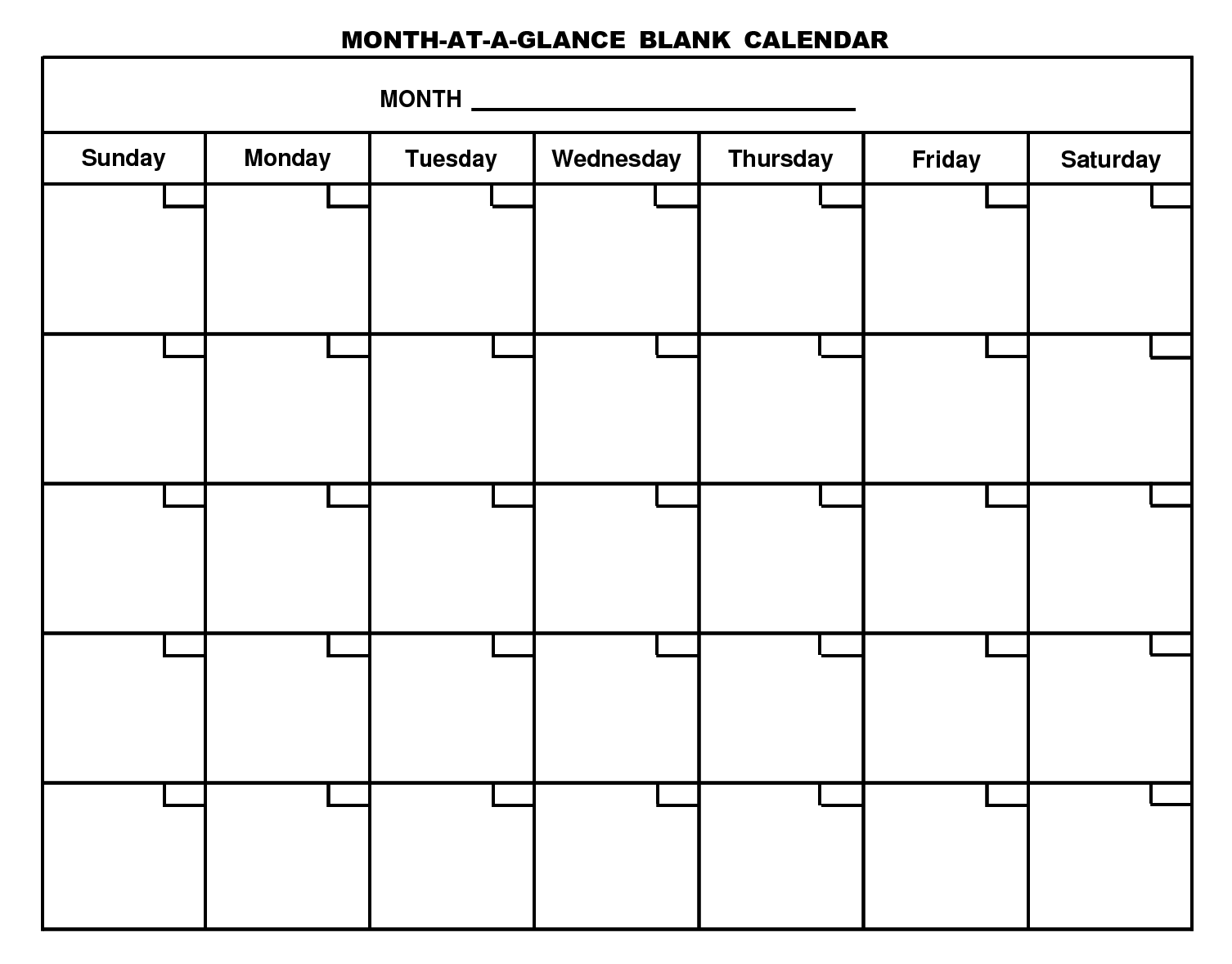 blank calendar no dates and months  Printable Blank Calendar Template … | Printable blank ..