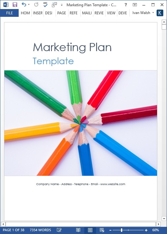 schedule template word  Marketing Plan Templates (5 x Word + 10 Excel Spreadsheets ..