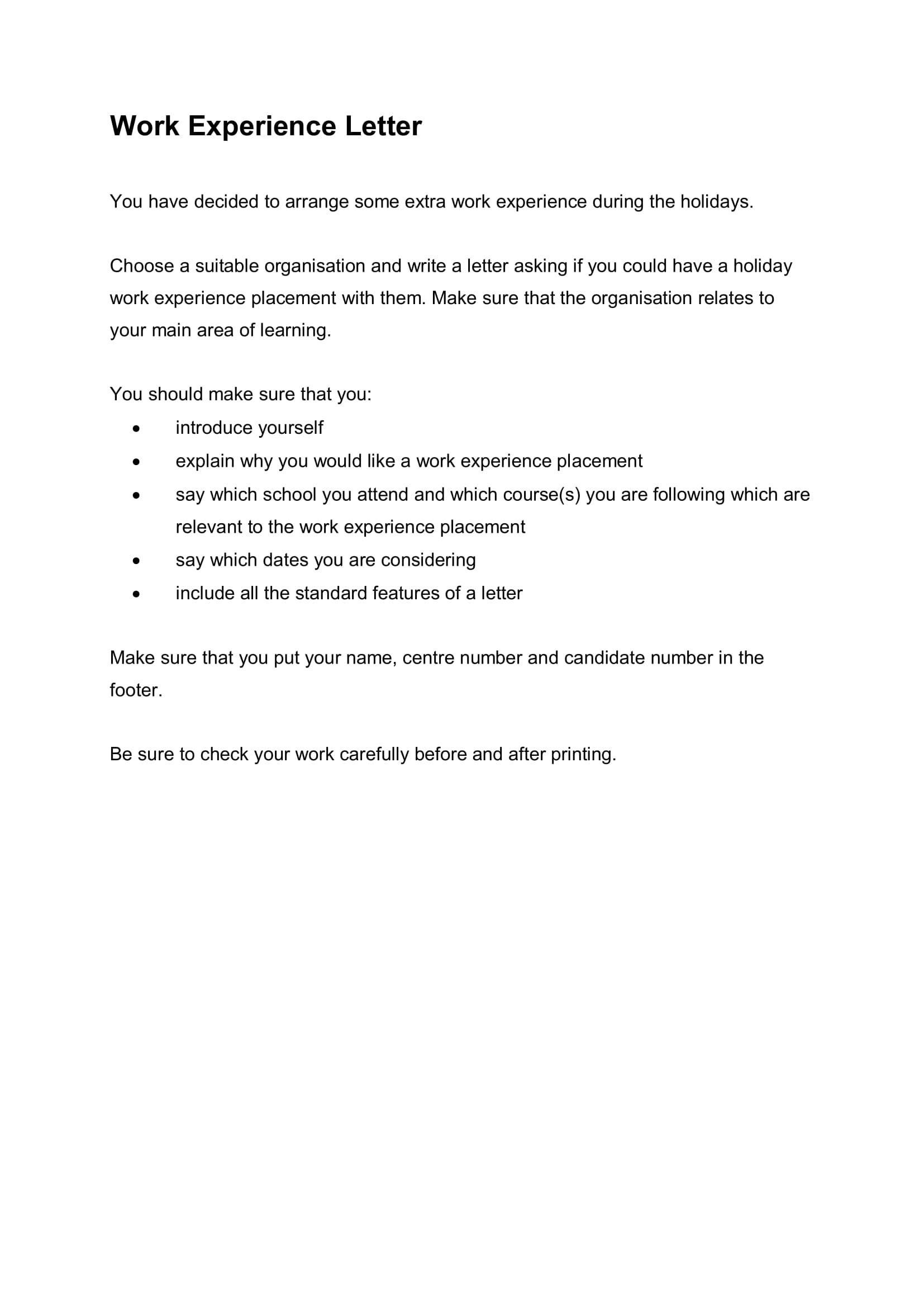 work experience experience letter for accountant assistant  15+ Experience Letter Sample Templates - PDF   Free ..