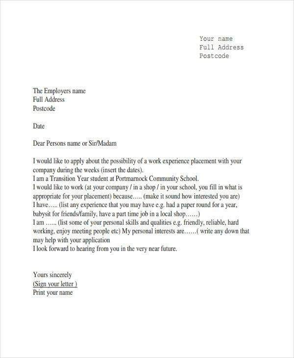 proof of work experience letter sample  4+ Job Experience Letter Format Templates - PDF   Free ..