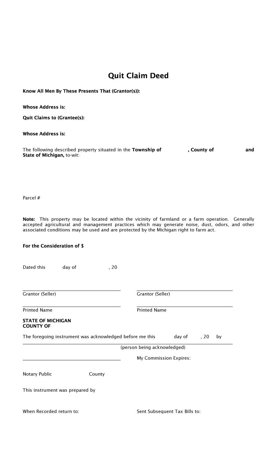 employee quit claim form  47 Free Quit Claim Deed Forms & Templates - Free Template ..