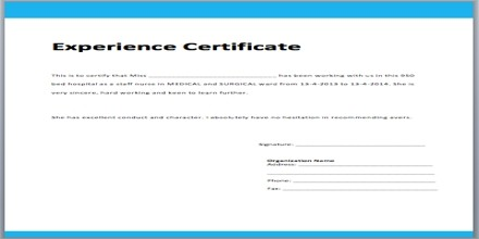 work experience receptionist experience certificate sample  Application Format for Experience Certificate - Assignment ..