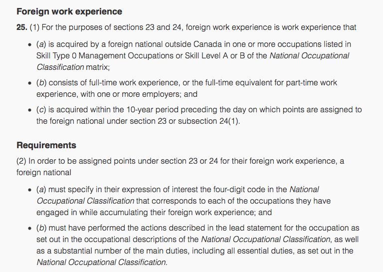 work experience letter express entry sample  Express Entry – The secret to finding your correct NOC ..