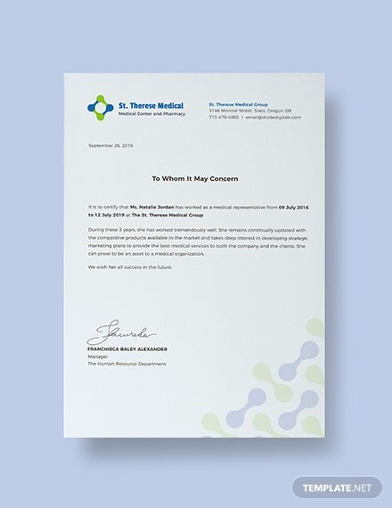 work experience experience certificate letter  FREE Medical Experience Certificate Template: Download 324 ..