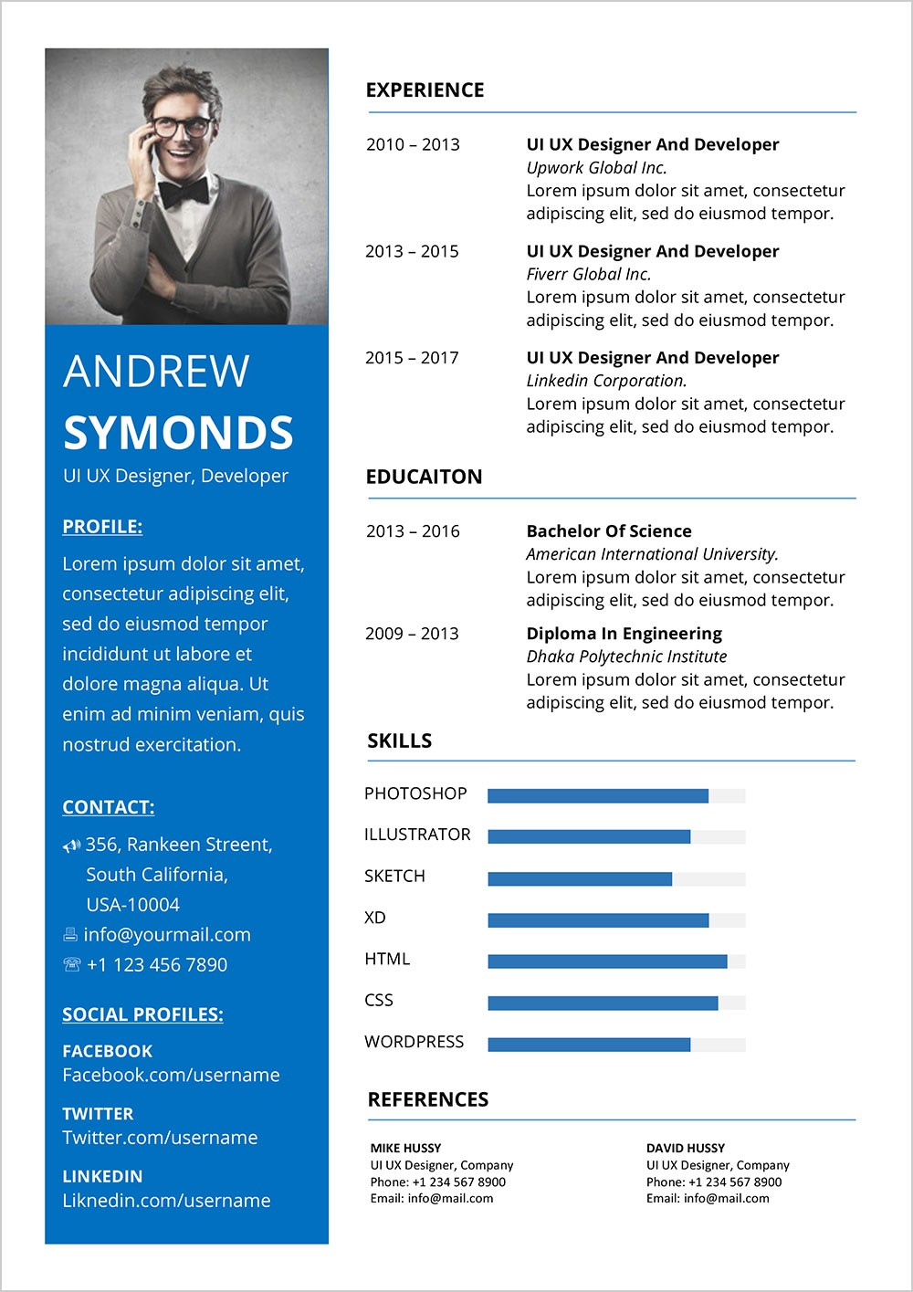 resume design format  Free Modern Resume Template In Word DOCX Format - Good Resume - resume design format
