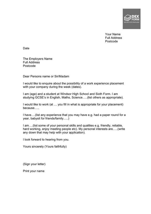 work experience letter template doc  Friendly Letter Template - download free documents for PDF ..