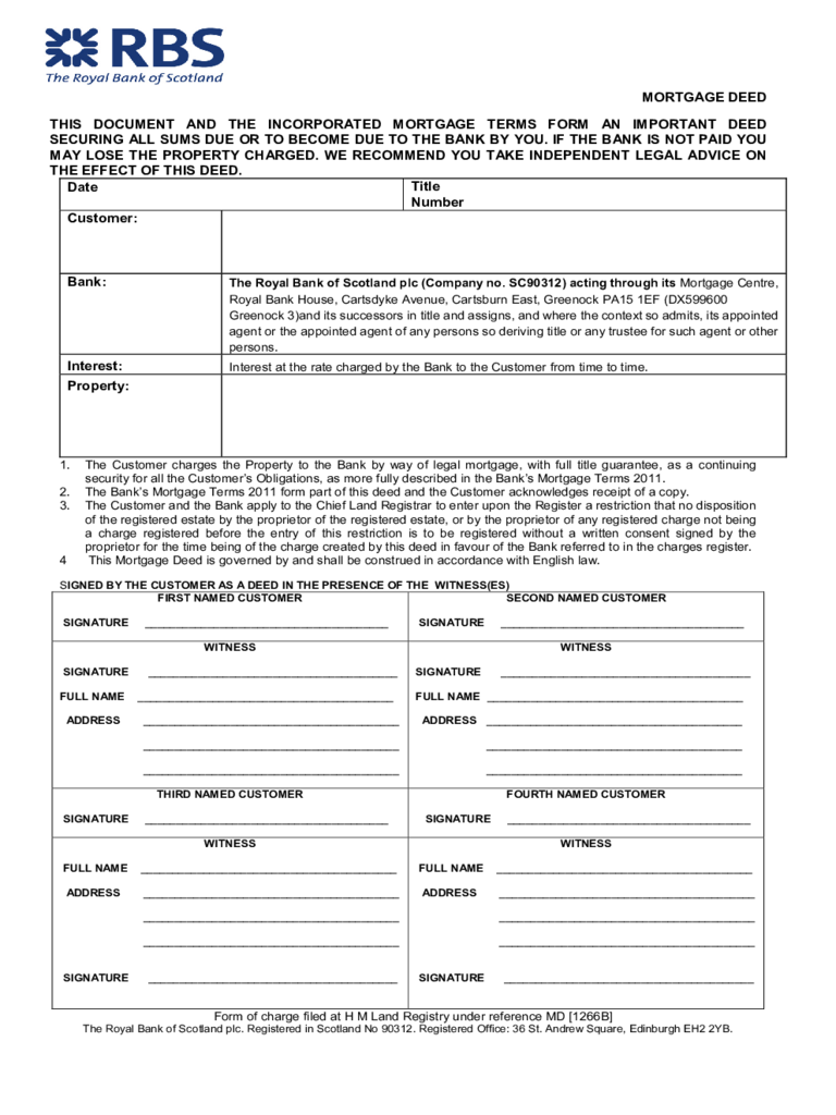 template mortgage deed form  Mortgage Deed Form - 16 Free Templates in PDF, Word, Excel ..