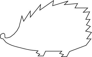 hedgehog craft template  Pin on future projects - hedgehog craft template