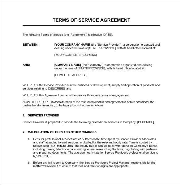 printable service contract template microsoft word  Service Contract Templates – 14+ Free Word, PDF Documents ..