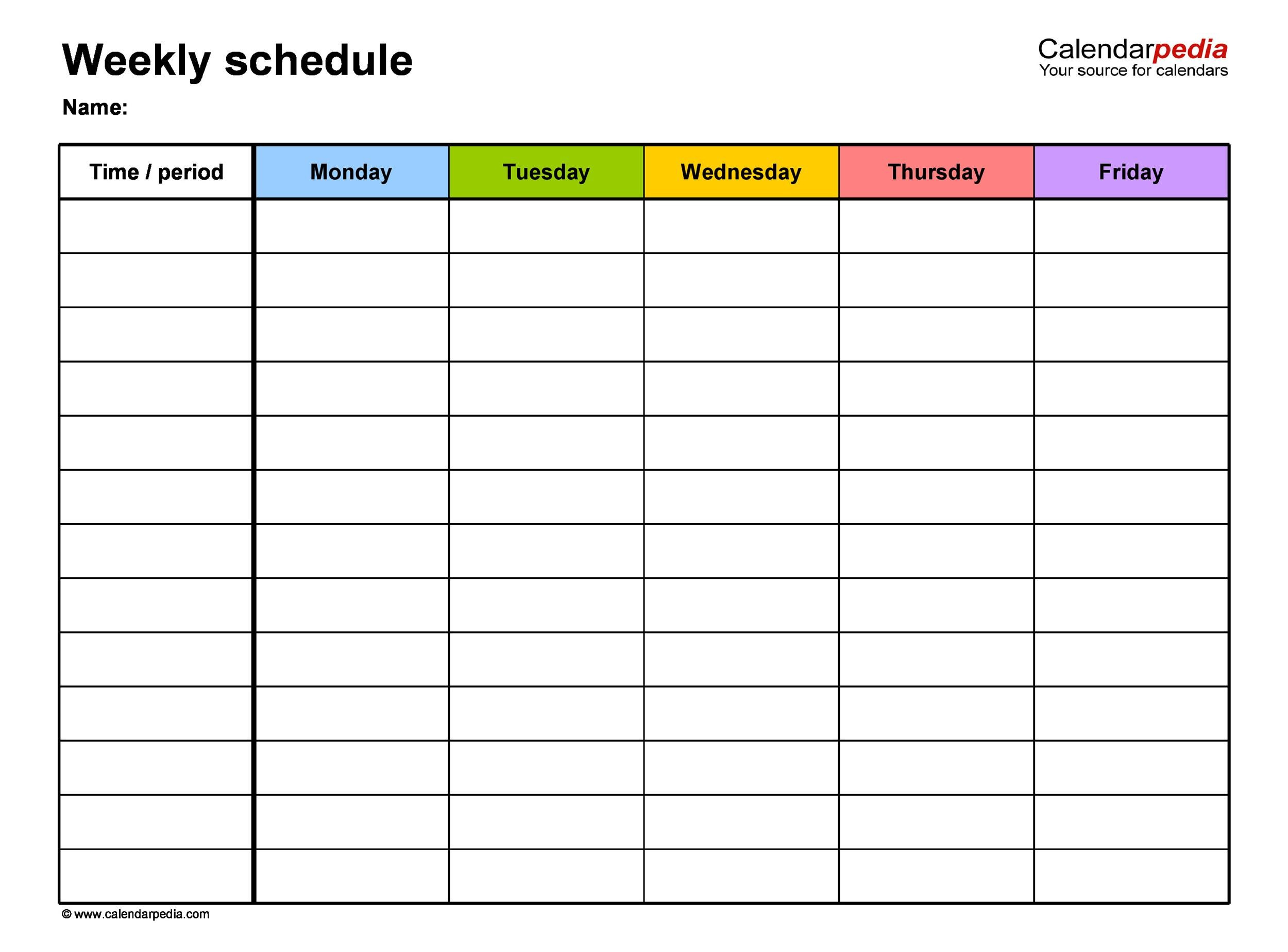 a work schedule template  17 Perfect Daily Work Schedule Templates - Template Lab - a work schedule template