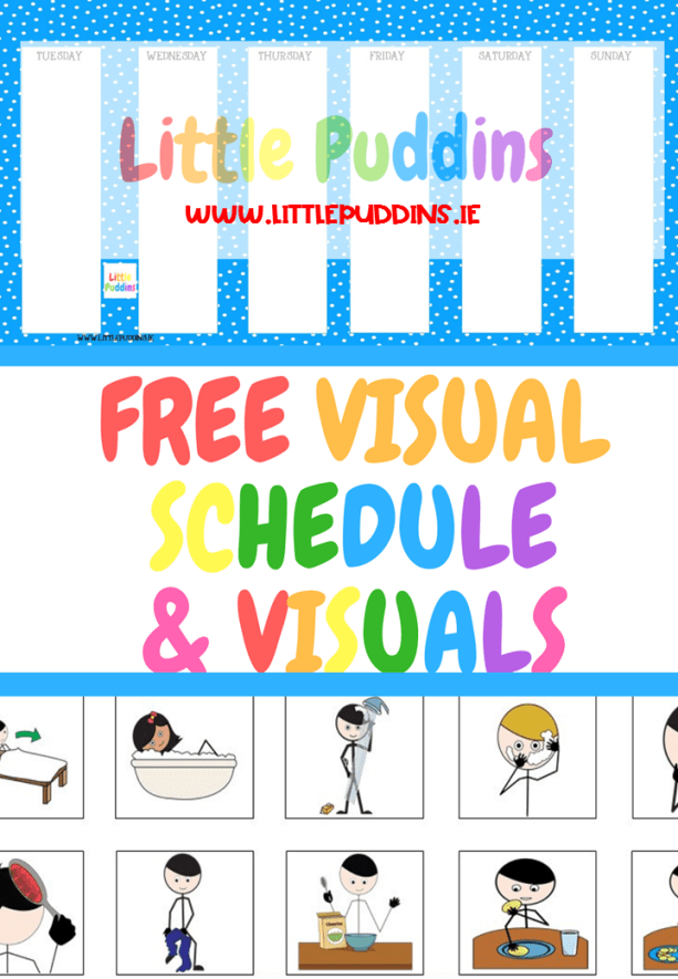 free daily visual schedule template  Free Printable Daily Visual Schedule – Little Puddins - free daily visual schedule template