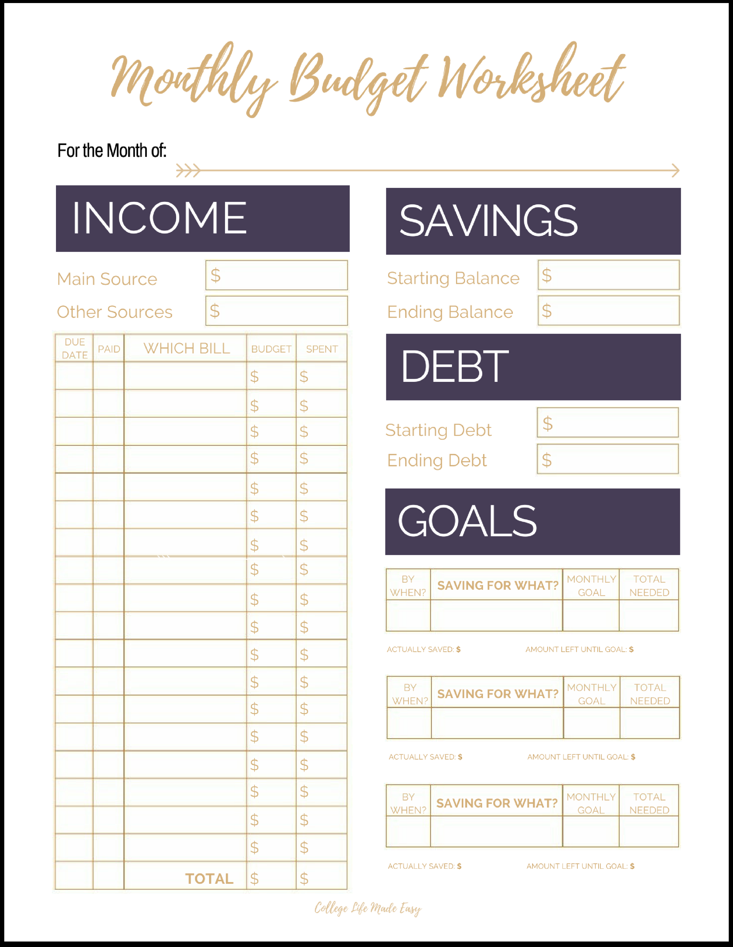 budget planner template cute  Fix Your Finances ASAP with My (Free) Simple Monthly ..