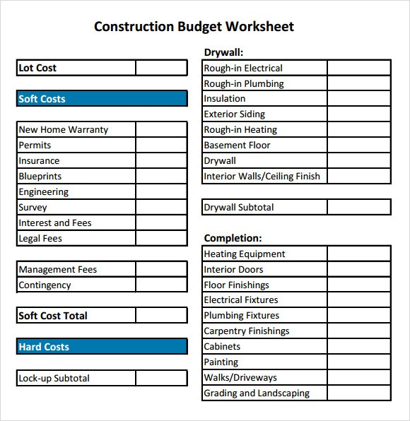 building a home budget template  19+ Free House Building Budget Templates - MS Office Documents - building a home budget template