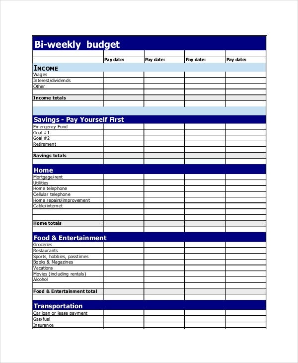 weekly budget plan template  19+ Simple Budget Planner Templates - Word, PDF, Excel ..