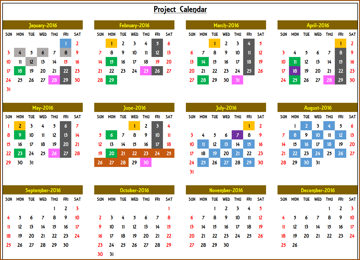 yearly event calendar template excel  Excel Calendar Template - Excel Calendar 2018, 2019 or any ..