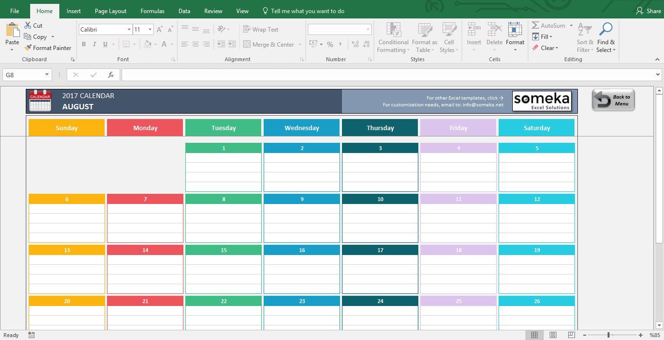 how do i download a calendar template in excel  Excel Calendar Template 2019 - Free Printable Calendar - how do i download a calendar template in excel