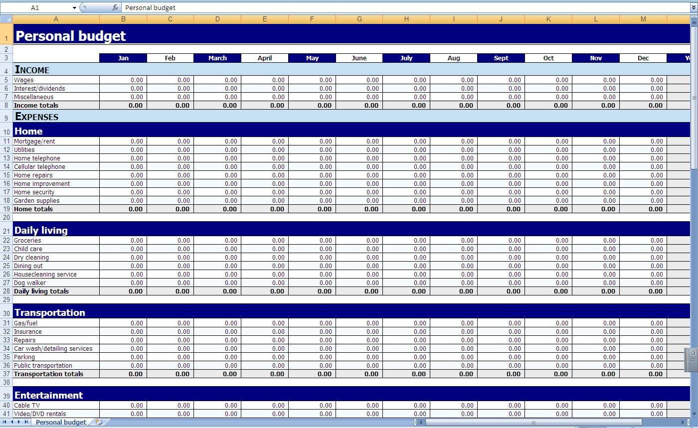 template on excel sheet  Excel Templates Personal Finances   How to Find Excel ..